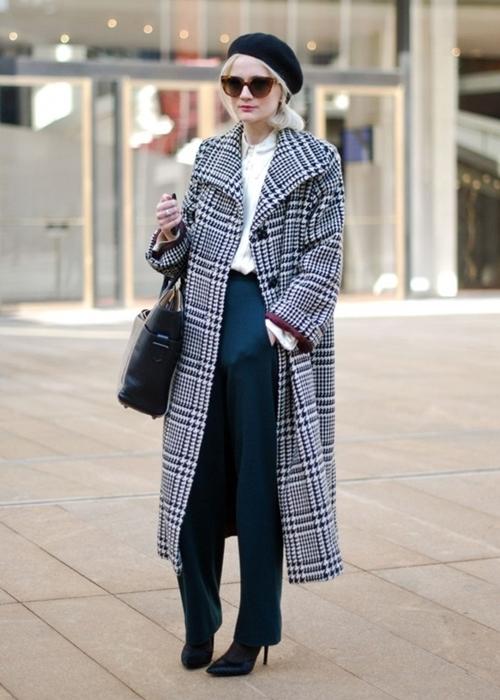 длинное пальто женское фото