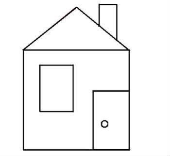 домик из геометрических фигур картинки