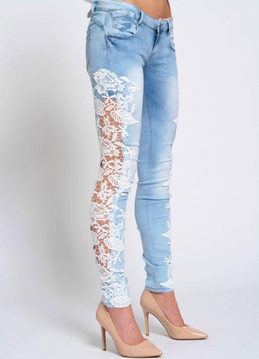 джинсы с кружевом фото потому что