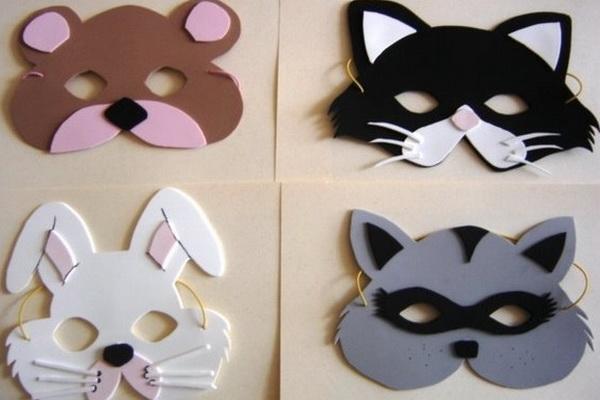 Как сделать маски для детей. Фото. Шаблоны. МК - Своими руками