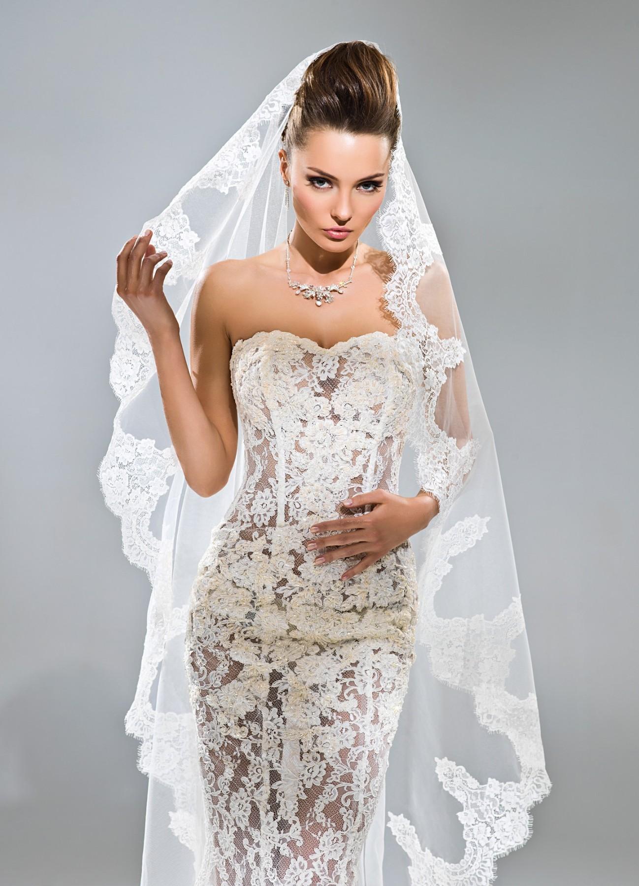 Ажурные свадебные платья фото