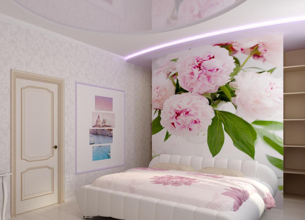 в интерьере фото фотопечать спальни