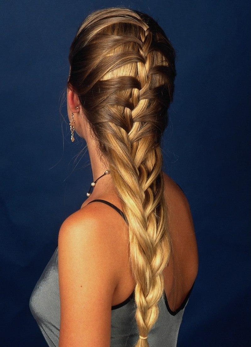 Прическа французская коса картинки