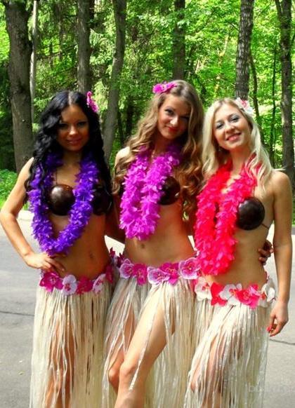 Девичник в стиле гавайской вечеринки, фото видео