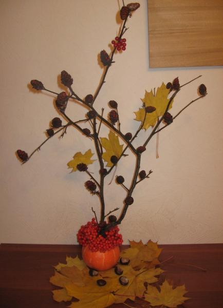 Икебана своими руками осень