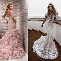 ed0321c90ea Свадебные платья со шлейфом представляет собой одну из самых эффектных  вариаций нарядов для невест. Они могут быть пышными или облегающими