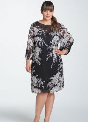 летние платья из шифона для полных женщин