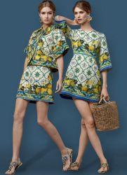 платье с лимонами дольче габбана