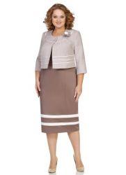 Платье-костюм для полных женщин