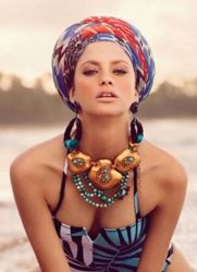 Как носить платок на голове