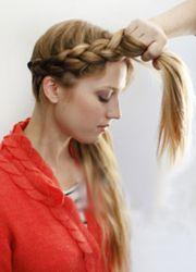 плетение косы вокруг головы 3