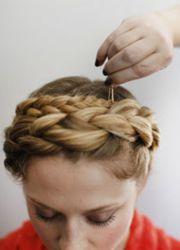 плетение косы вокруг головы 6