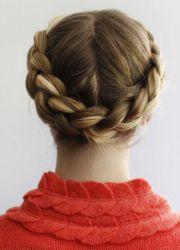 плетение косы вокруг головы 7