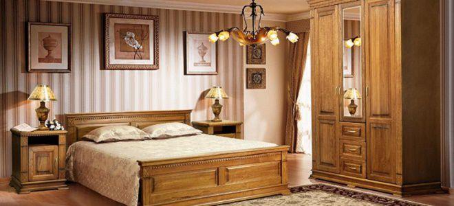 современные спальни из массива дерева в классическом стиле