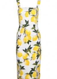 платье с лимонами дольче габбана 1