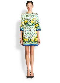 платье с лимонами дольче габбана 4