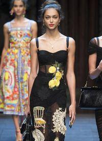 платье с лимонами дольче габбана 7