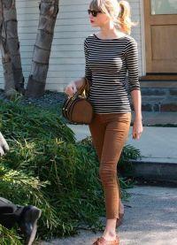 с чем носить коричневые женские брюки 10