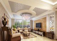 Красивые потолки из гипсокартона3