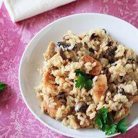 Ризотто классический рецепт с курицей и грибами