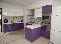 Бело-фиолетовая кухня1