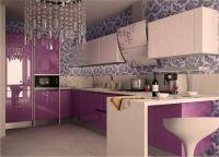 Бело-фиолетовая кухня2