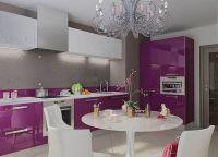 Бело-фиолетовая кухня3