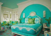 Дизайн спальни в бирюзовом цвете3