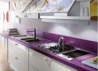 Фиолетовая столешница для кухни1