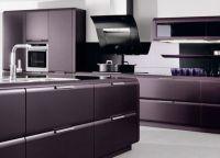 Фиолетовая столешница для кухни3