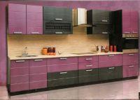 Интерьер кухни в фиолетовых тонах1
