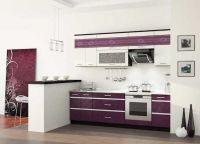Интерьер кухни в фиолетовых тонах2