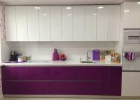 Кухня фиолетовый низ белый верх1