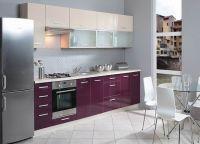 Кухня фиолетовый низ белый верх2