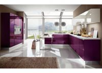 Кухня фиолетовый низ белый верх3