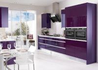Кухня с фиолетовыми фасадами2