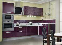 Кухня с фиолетовыми фасадами3