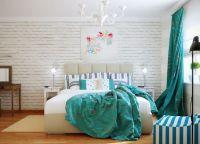 Спальня с бирюзовыми акцентами1