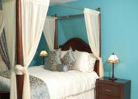 Спальня в бирюзово-бежевых тонах2