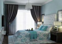 Спальня в бирюзово-шоколадных тонах2