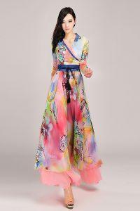 Летние платья с рукавами 9
