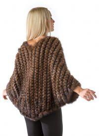 Шубы из вязаной норки 7
