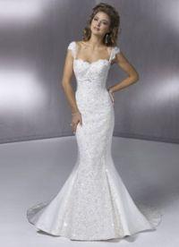 Узкие свадебные платья 2