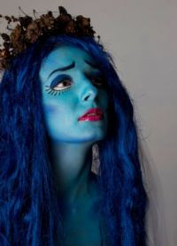 голубой парик 14
