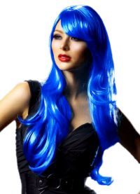 голубой парик 18