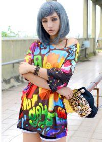 голубой парик 2