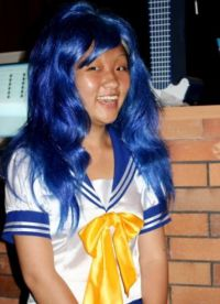 голубой парик 23