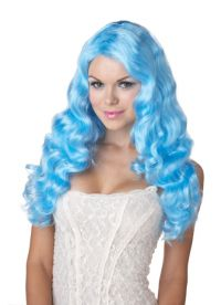 голубой парик 5