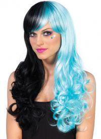 голубой парик 6