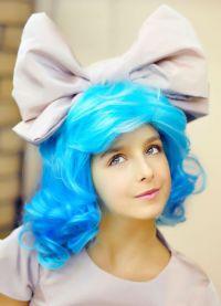 голубой парик 7